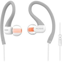 Koss Fitseries Ksc32i Earset - Stereo - Gray, Orange - Mini-phone - Wired - 16 Ohm - 15 Hz - 20 Khz - Over-the-ear, Earbud - Binaural - In-ear - 3.94 Ft Cable (189262)