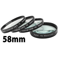 Digital Concepts +1 +2 +4 +10 Close-Up Macro Filter Set With Pouch (58mm)