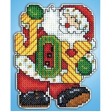 Tobin Joy Santa Ornament Plastic Canvas Kit-14 Count