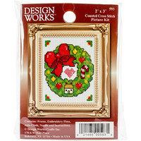 Tobin Wreath Ornament Counted Cross Stitch Kit-2X3