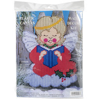 Tobin Christmas Angel Wall Decor Plastic Canvas Kit-13.5