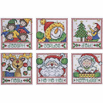Tobin Holiday Tags Counted Cross Stitch Kit-4