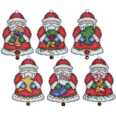 Tobin Santa Ornaments Plastic Canvas Kit-3