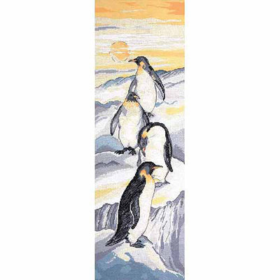 Tobin Penguins Counted Cross Stitch Kit