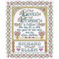Tobin Design Works Counted Cross-Stitch Kit, Love Promise