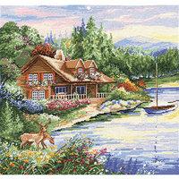 Tobin Lakeside Cabin Counted Cross Stitch Kit