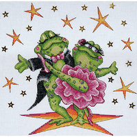 Tobin Dancing Frogs Counted Cross Stitch Kit - 12 X12 14 Count