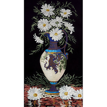 Tobin Daisies In Vase Counted Cross Stitch Kit