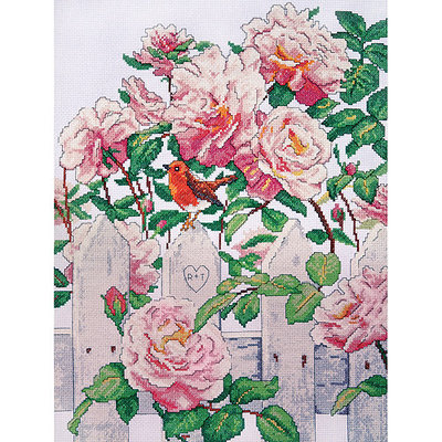 Tobin Roses In Provence Counted Cross Stitch Kit-12