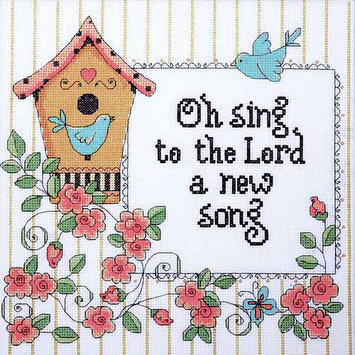 Design Works Crafts, Inc. Heartfelt Be Strong Counted Cross Stitch Kit-8