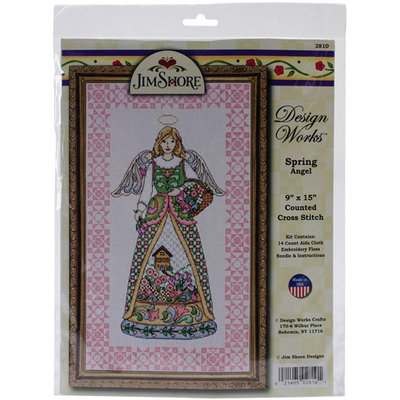 Tobin Spring Angel-Jim Shore Counted Cross Stitch Kit-9inX15in 14 Count