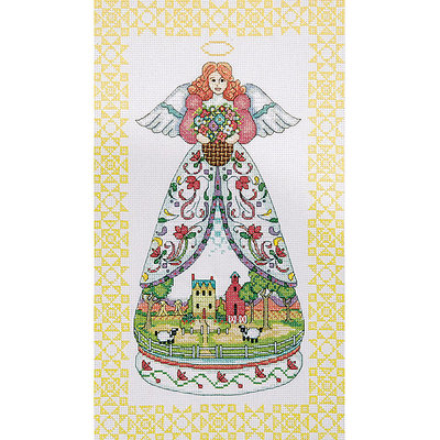 Tobin Summer Angel-Jim Shore Counted Cross Stitch Kit-9inX15in 14 Count