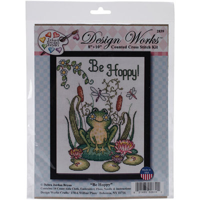 Tobin Be Hoppy (Frog) Counted Cross Stitch Kit-8inX10in 14 Count