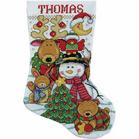 Design Works Crafts, Inc. Tobin Making New Friends Stocking Counted Cross Stitch Kit