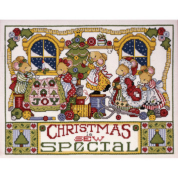Tobin Christmas Is Sew Special Counted Cross Stitch Kit