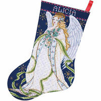 Tobin Let It Snow Stocking Counted Cross Stitch Kit