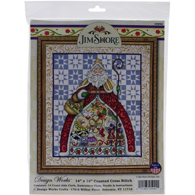 Tobin DW5992 12 Days-Jim Shore Counted Cross Stitch Kit-14 in. X16 in. 14 Count