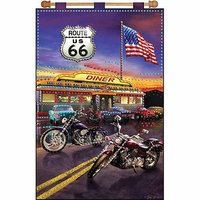 Tobin Route 66 Jeweled Banner Kit - 16 X24