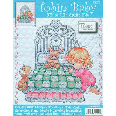 Crafts & Sewing Tobin Bedtime Prayer Boy Quilt Stamped Cross-Stitch Kit - 34