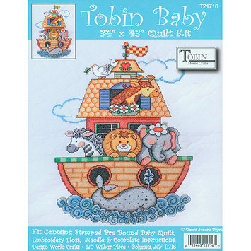 Tobin Noahs Ark 34x43 Quilt Stamped Cross Stitch Kit