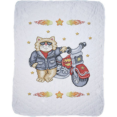 Tobin Born To Be Wild 34x43 Baby Quilt Stamped Cross Stitch Kit