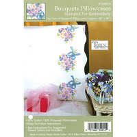 Tobin Bouquets Stamped Pillowcase Pair, 20