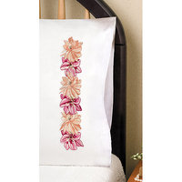 Tobin Pink Floral Stamped Pillowcase Pair, 20