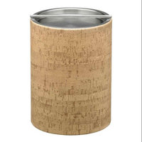 Natural Cork 2qt Tall Ice Bucket with Metal Bar Cover