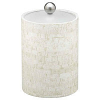 Stucco Cork 2qt Tall Ice Bucket with Lucite Lid