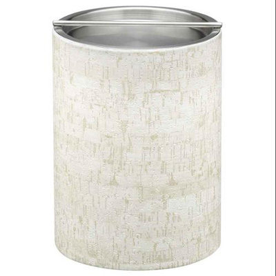 Stucco Cork 2qt Tall Ice Bucket with Metal Bar Cover