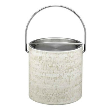 Stucco Cork 3qt Ice Bucket with Metal Cover