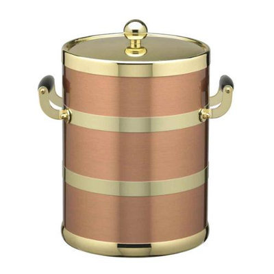 Copper & Brass 5qt Ice Bucket