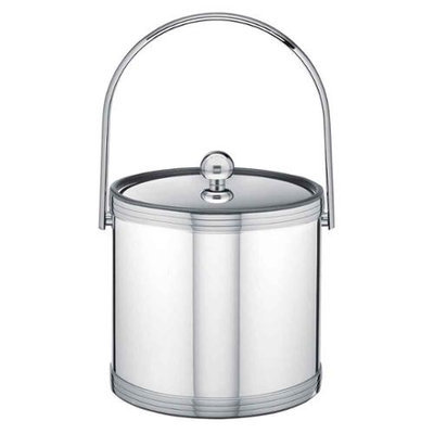 Mylar Polished Chrome 3qt Ice Bucket with Metal Cover