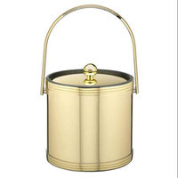 Mylar Polished Brass 3qt Ice Bucket with Metal Cover