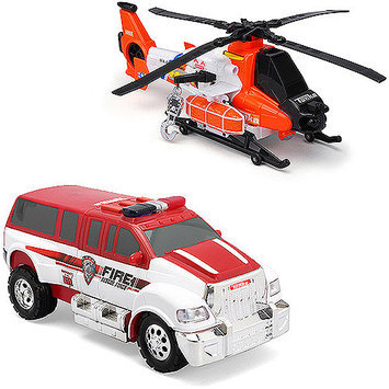 Tonka Rescue Force Fire Transport Helicopter and Fire SUV Play Set