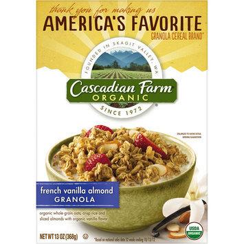 Cascadian Farm Organic French Vanilla Almond Granola, 13 oz