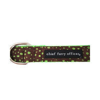 Chief Furry Officer Topanga Canyon Dog Leash Color: Brown, Size: 0.75