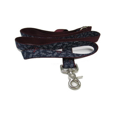 Chief Furry Officer Fire Flies Dog Leash Color: Burgundy, Size: 0.63
