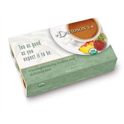 Davidson's Tea Davidson Organic Tea 189 Green Tea Garden Tea Box of 100 Tea Bags