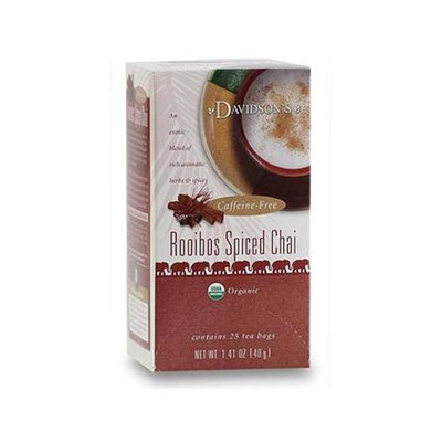 Davidson's Tea Davidson Organic Tea 2547 Rooibos Spiced Chai Tea Box of 25 Tea Bags