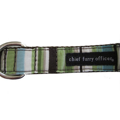 Chief Furry Officer Pacific Palisades Dog Leash Color: Brown, Size: 0.75