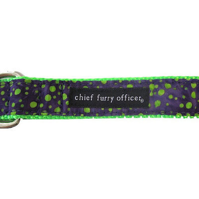 Chief Furry Officer Victory Blvd Dog Leash Size: 0.75