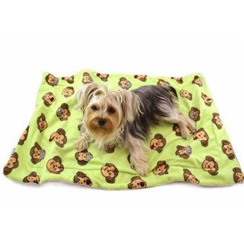 Klippo Pet, Inc Klippo Pet KBLNK053 Silly Monkey Ultra-Plush Blanket