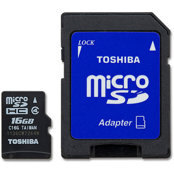 Toshiba 16GB MicroSD Class 4 Memory Card