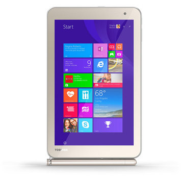 Toshiba Encore 2 Wt8pe-b264 Net-tablet Pc - 8 - In-plane Switching [ips] Technology, Trubrite - Wireless Lan - Intel Atom Z3735f 1.33 Ghz - Matte Satin Gold - 2GB RAM - 64GB Ssd - (pdw0cu-001002)