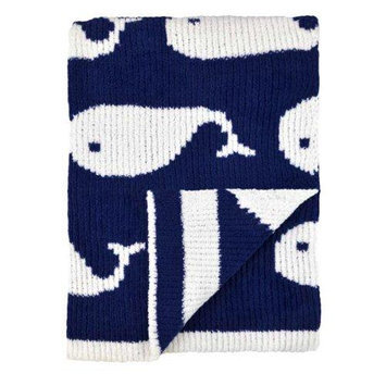 Triboro Just Born High Seas Sweater Knit Jacquard Blanket