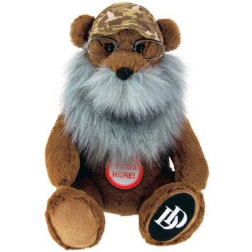 Commonwealth Duck Dynasty Si Bear Plush with Sound