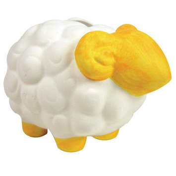 Sassafras Paint Your Own Sheep Mini Bank