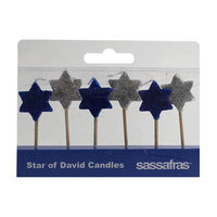 Sassafras Enterprises 2300XSST Star of David Party Candles