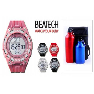 Conair Beatech Pink Multi-function Timer Watch with Aluminum Camping Bottle Set